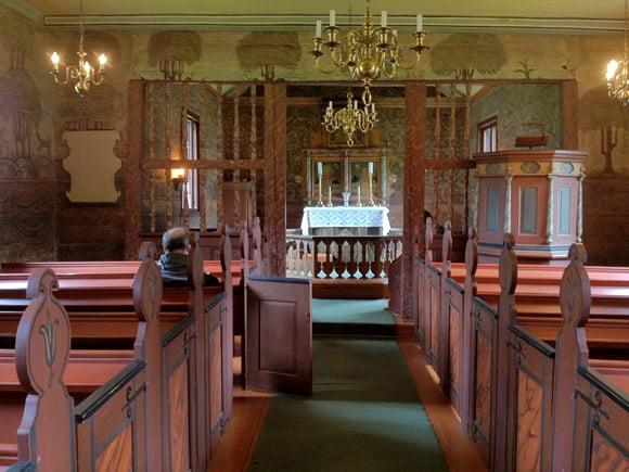 Inside Flåm Church