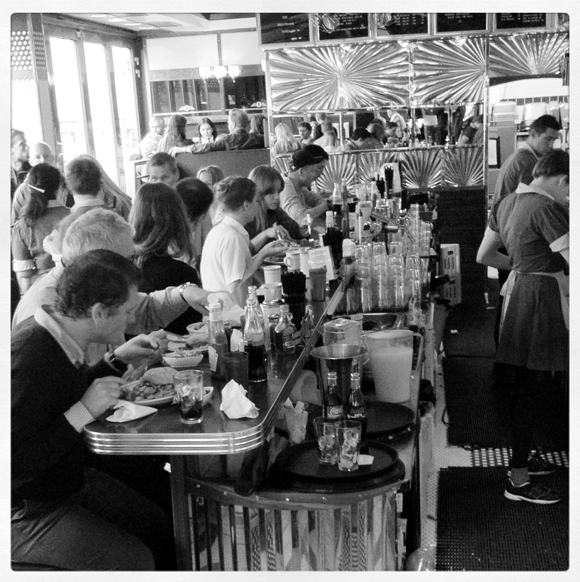 Inside the Nighthawk Diner, Oslo