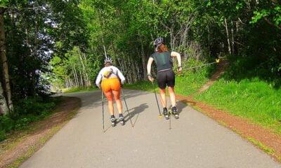 Roller-skiing