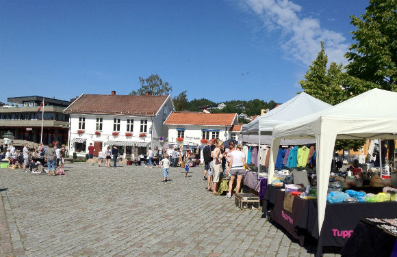 The market square in Drøbak