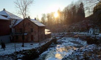 Bærums Verk Village in the Winter