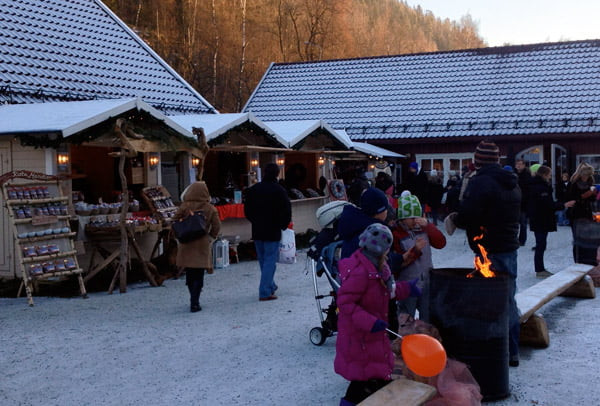 Christmas market at Bærums Verk