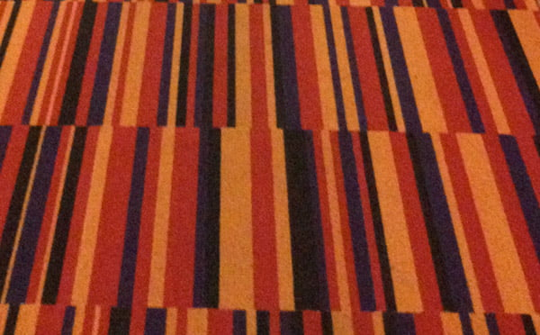 Patterned carpet at Hotel Finn in Helsinki