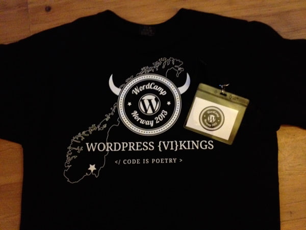 The WordCamp Norway 2013 T-Shirt