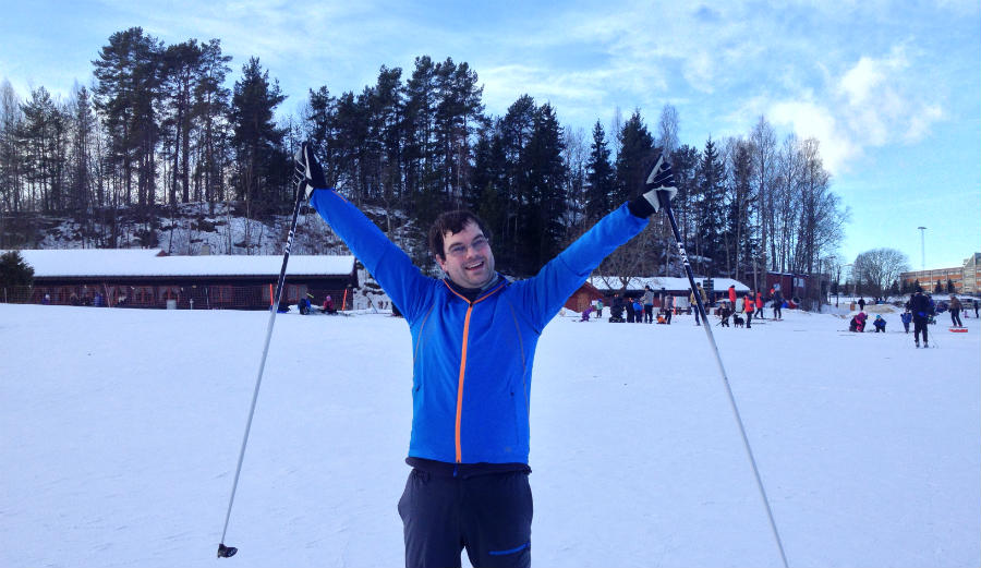 Cross-country skiing experience