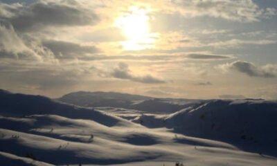Sun setting over Geitfjellet