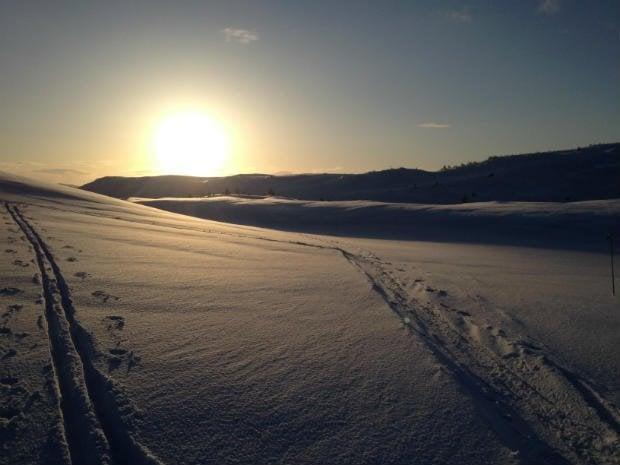 Sunset Skiing