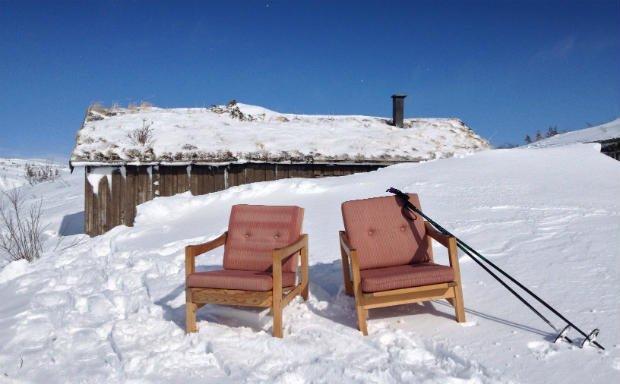 Outside Rundtjønnhytta