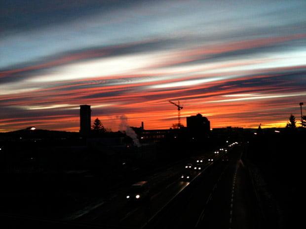 Amazing sky over east Oslo