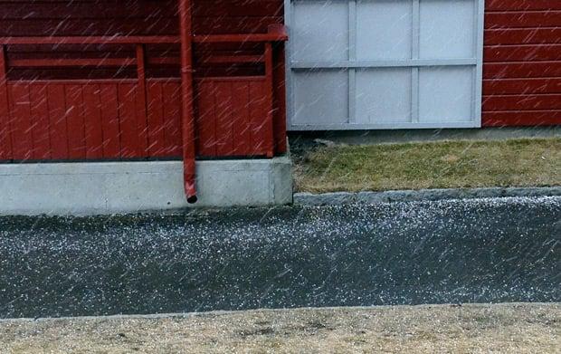 Hail in Trondheim