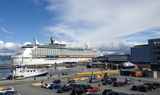 Cruise ship in Trondheim Port