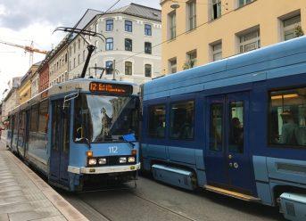 Norwegian trams in Oslo