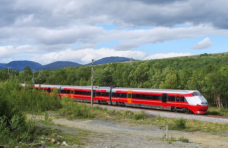 NSB train in Norway