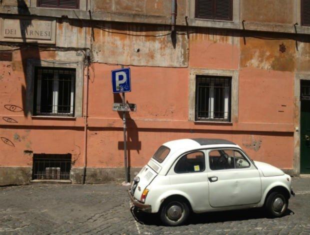 Fiat car in Roma
