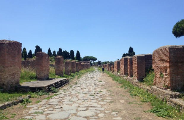 A very quiet Ostia Antica in Italy