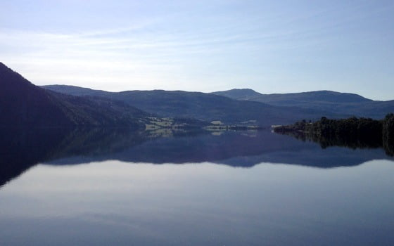 Mirror-like Norwegian fjords
