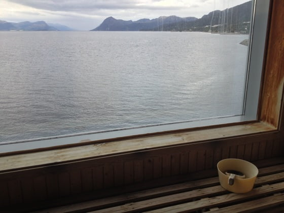 Sea view sauna