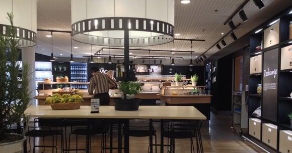 SAS lounge at Copenhagen