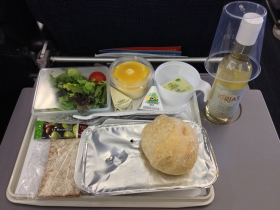 SAS in-flight meal