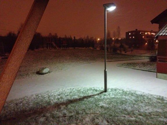 November snowfall starts