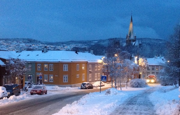 Trondheim in winter
