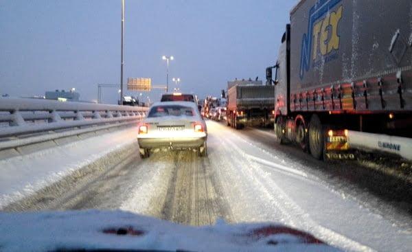 E6 traffic jam