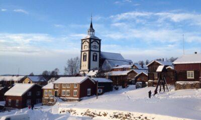 Winter scene from Røros, Norway