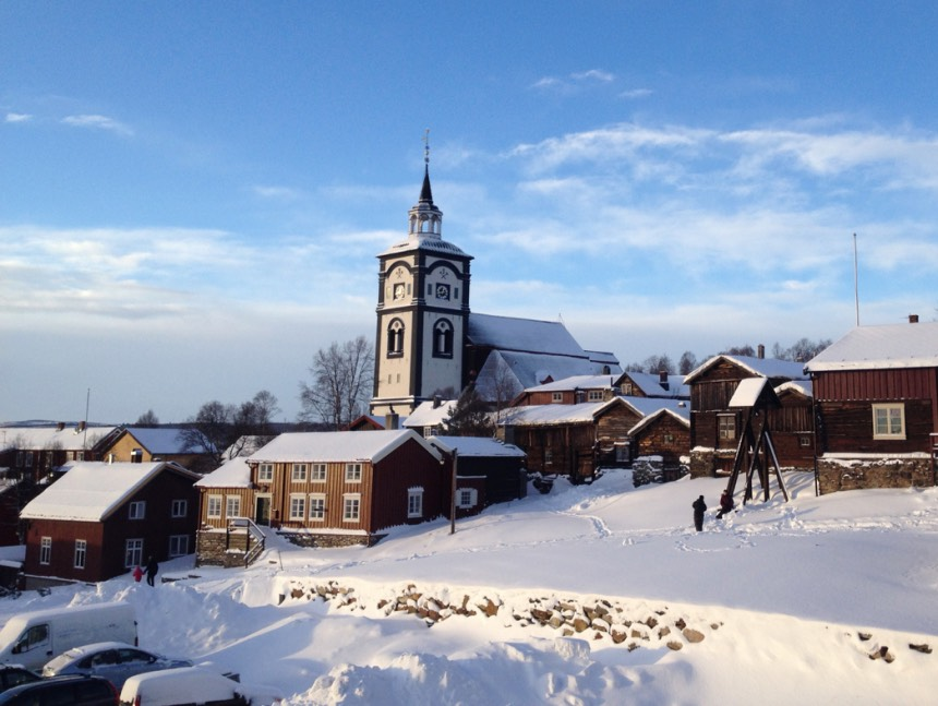 Winter scene from Røros, Norway