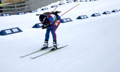 Skis on feet