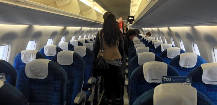 On-board the Embraer 170