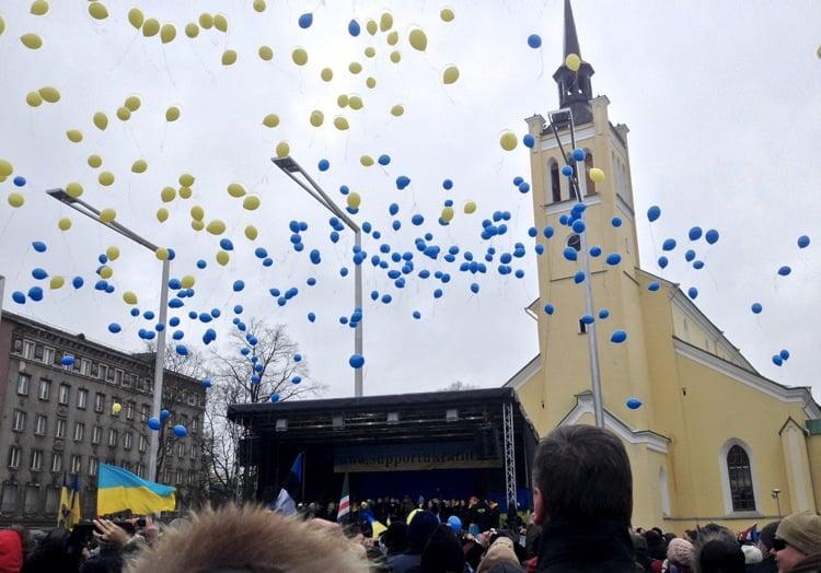 Pro-Ukraine rally in Estonia