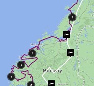 Fly Med Oss route map
