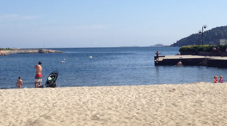 Kristiansand's blue flag beach