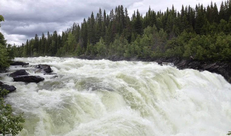 The largest waterfall in Sweden