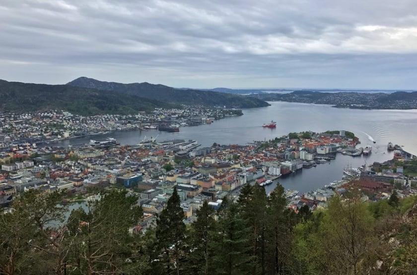 Bergen funicular viewpoint