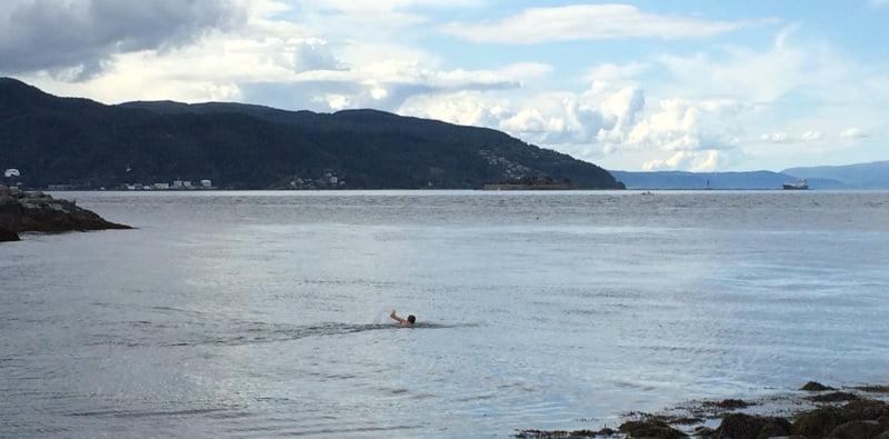 Swimming at Korsvika