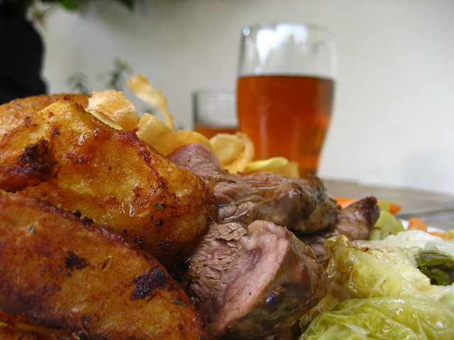 Sunday roast beef ale
