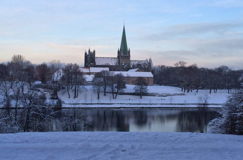 Nidaros Cathedral winter
