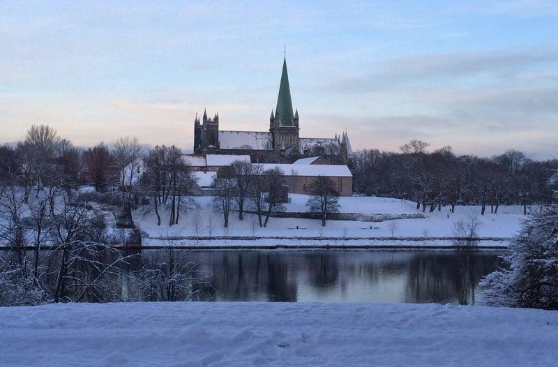 Nidaros Cathedral winter