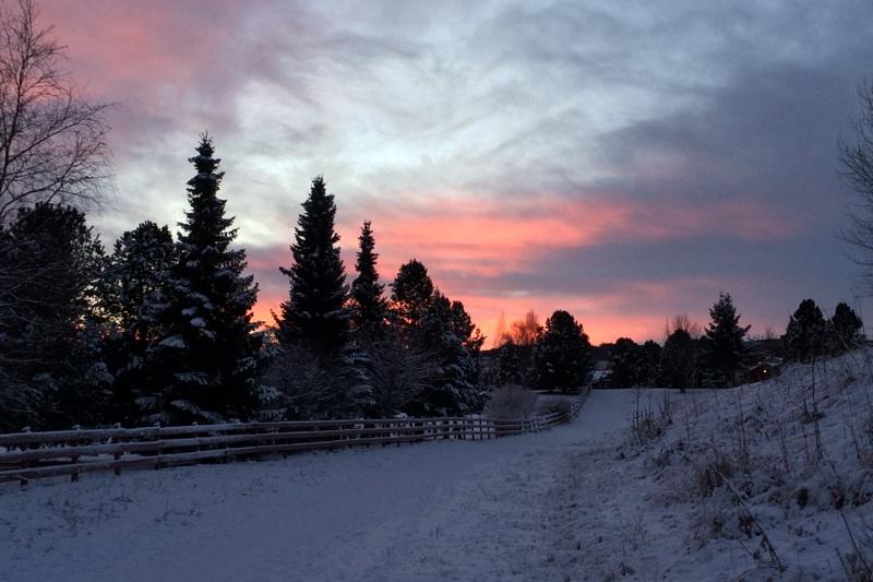 December sunrise in Norway