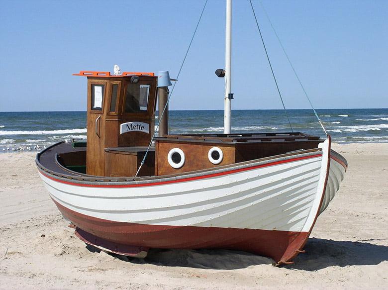 A boat on a beach in Denmark