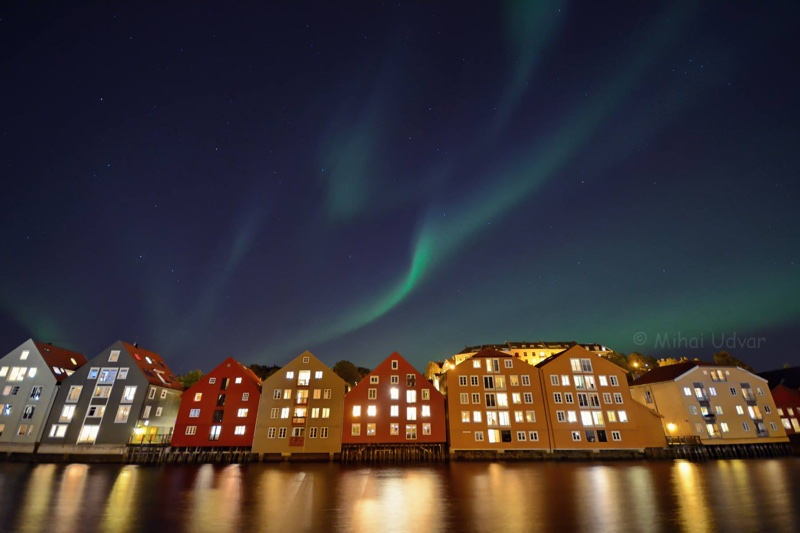 Northern lights in Trondheim