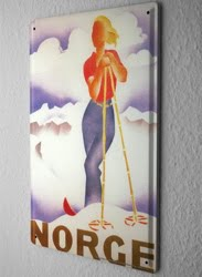 Norway tin sign