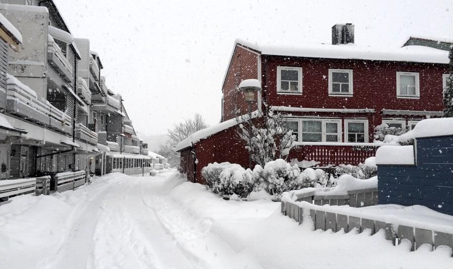 New neighbourhood in the winter