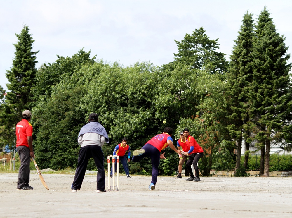 Playing cricket in Norway