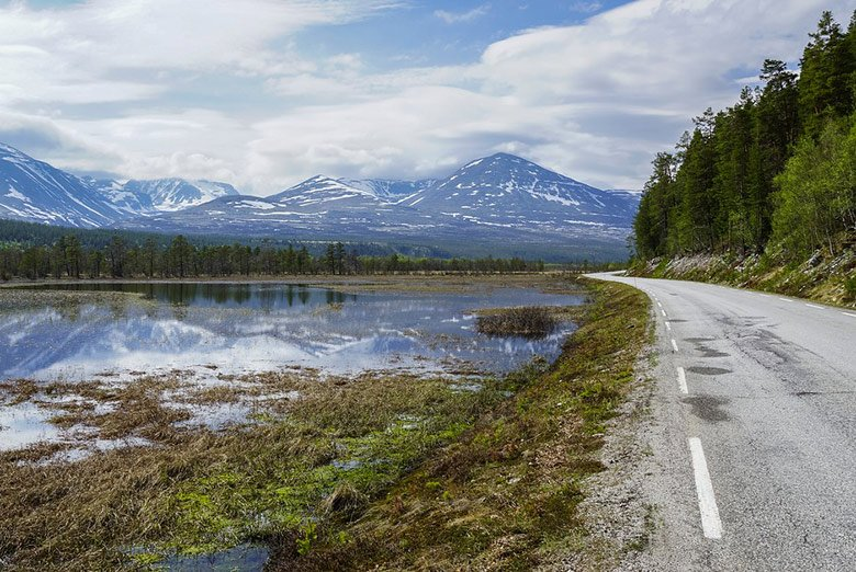 Driving through Rondane National Park