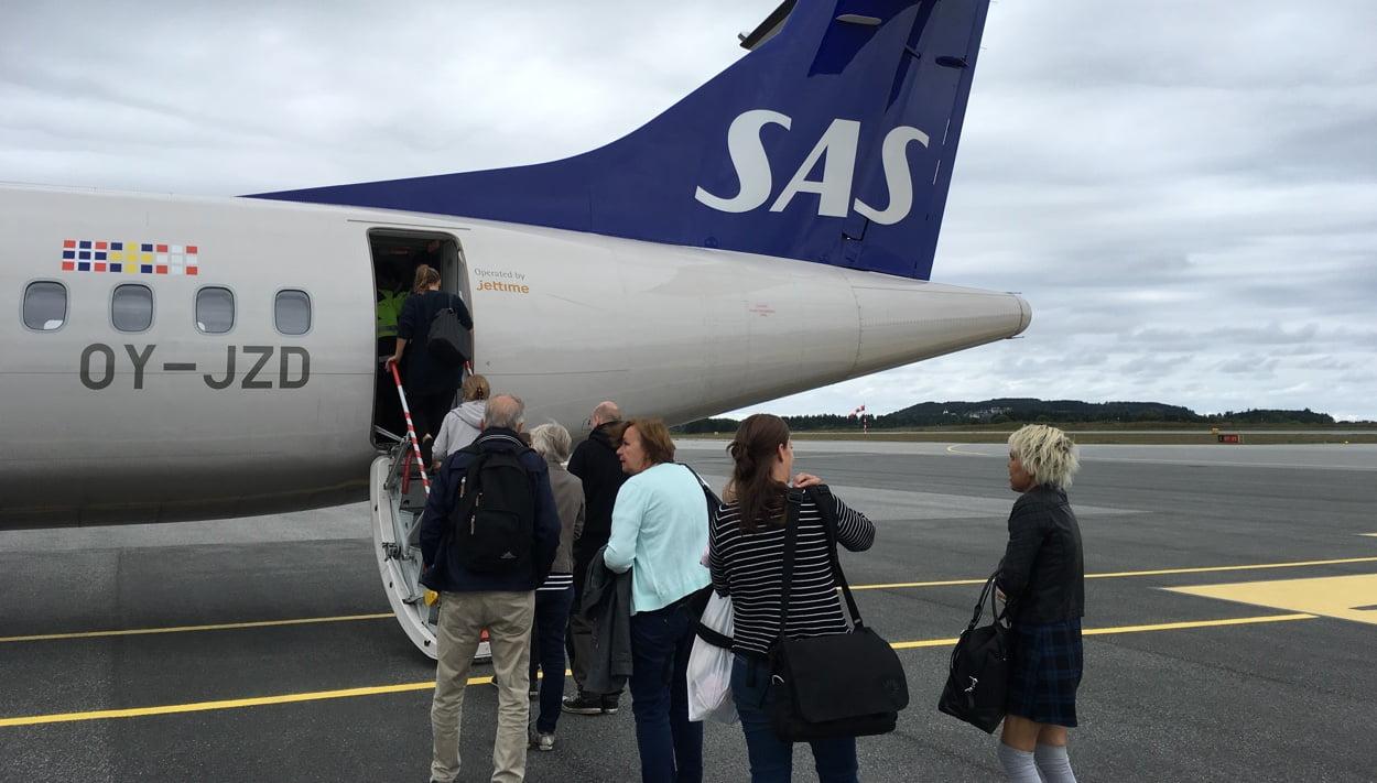 Boarding a SAS plane