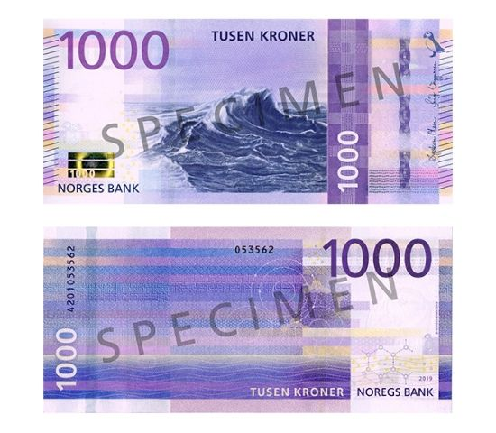 Norway's new 1,000-krone note