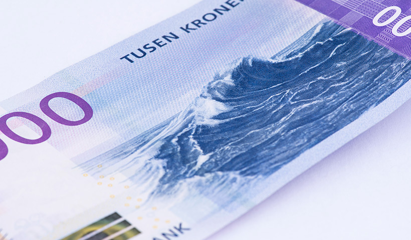 The new Norwegian thousand krone note
