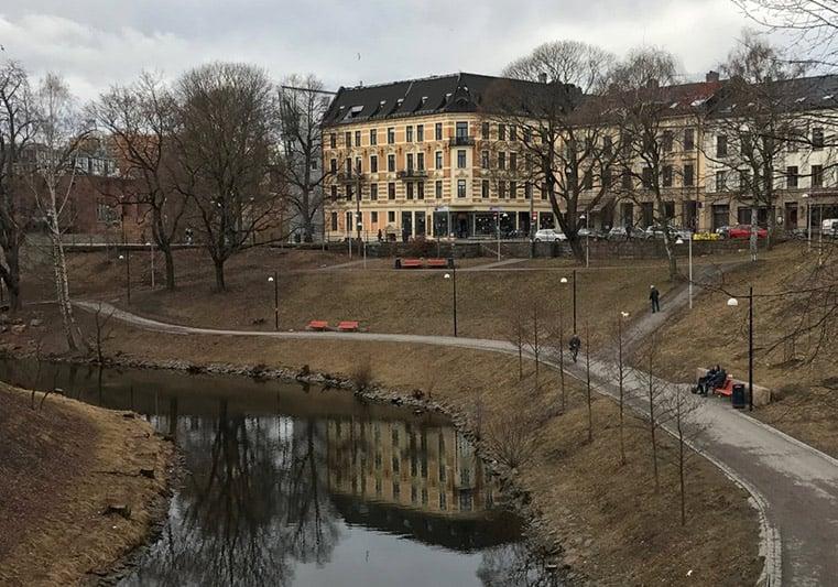 Akerselva river in Oslo